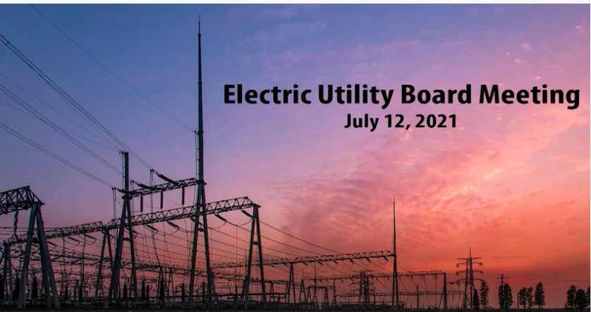 EUB Special Meeting July 2021