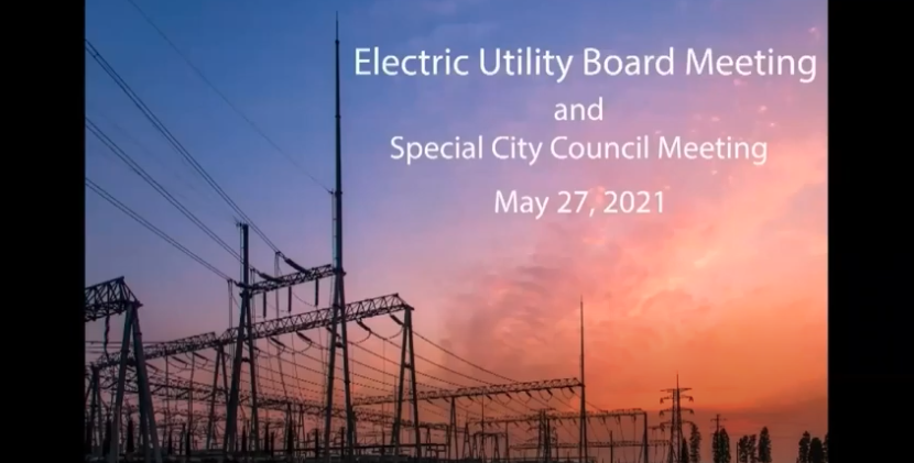 EUB Special Meeting May 2021